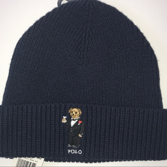 9a9df5d49 POLO BEAR Winter Hat $45 by Ralph Lauren NWT